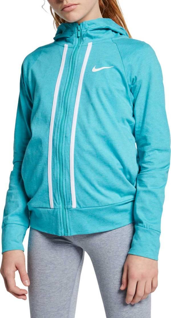 Nike Girls' Sportswear Jersey Full-Zip Hoodie product image