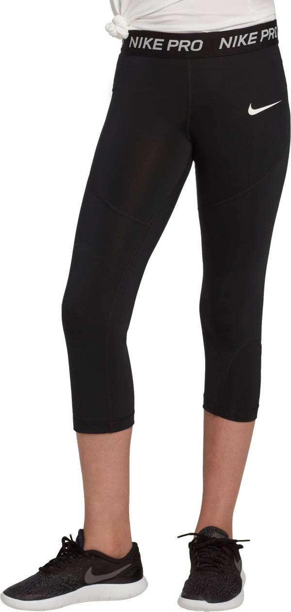 Nike Girls' Pro Dri-FIT Solid Capris product image