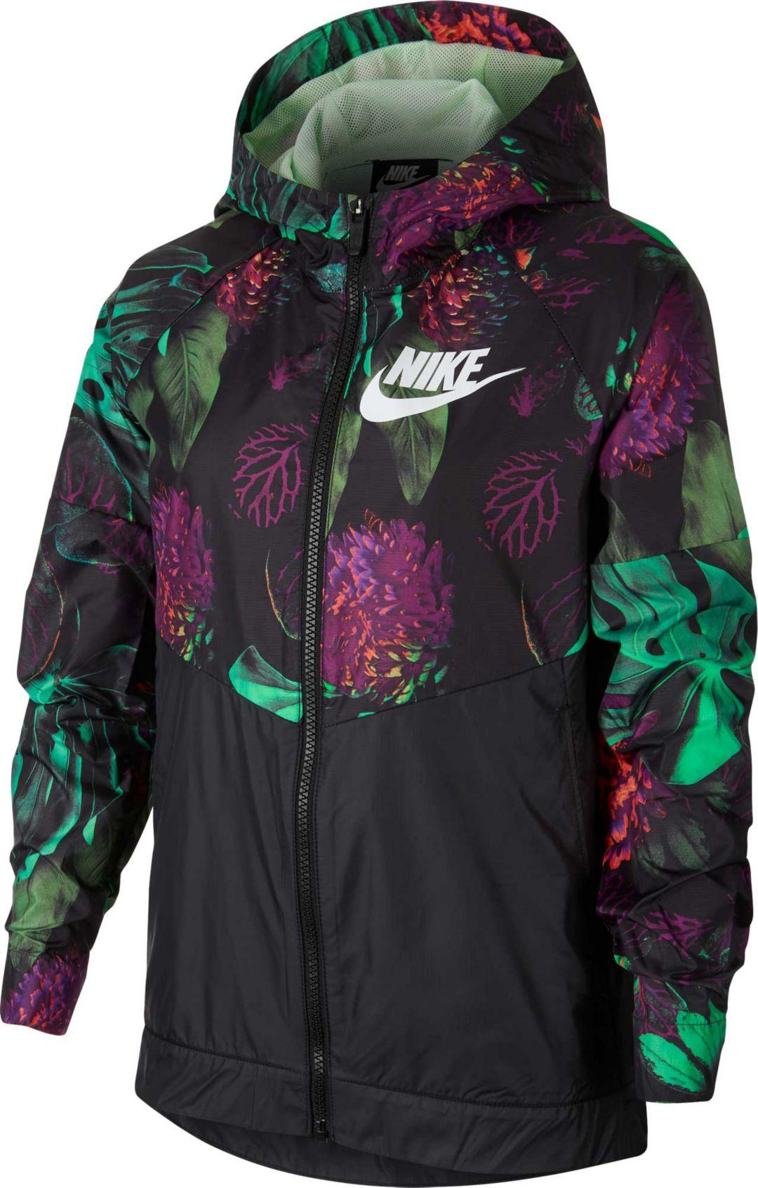 san francisco c02ab ddb8c Nike Girls  Sportswear Printed Windrunner Jacket. noImageFound. Previous