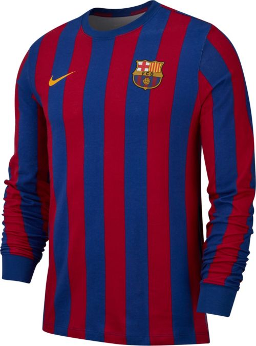 95f86f40f Nike Men s FC Barcelona Retro Navy Red Long Sleeve Shirt. noImageFound.  Previous