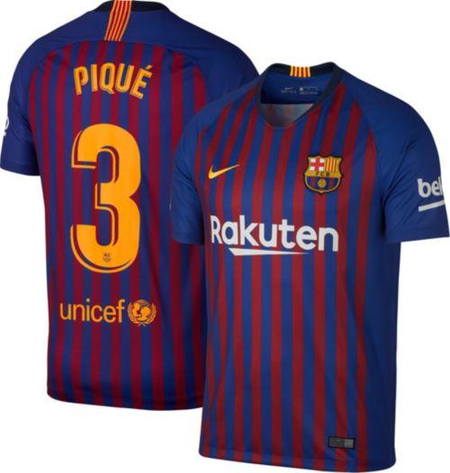 7392be4a9f6 Nike Men s FC Barcelona Gerard Pique  3 2018 Breathe Stadium Home ...