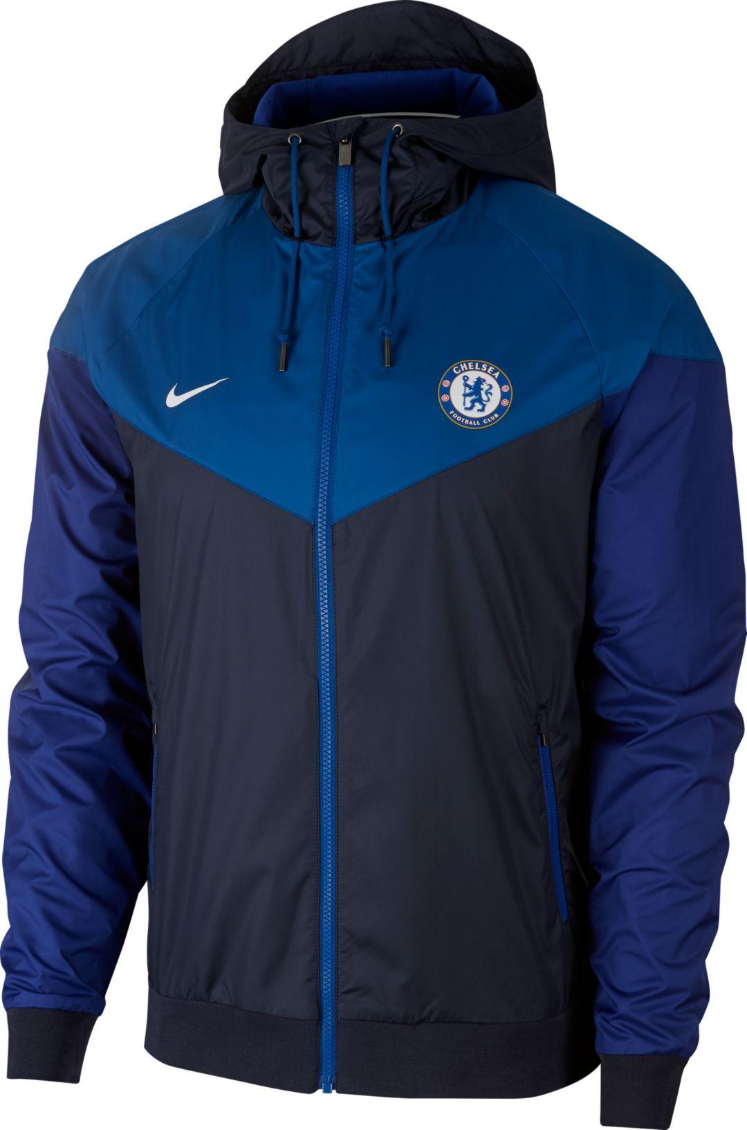 best service 3cc2f 85b78 Nike Men's Chelsea FC Windrunner Authentic UNX Navy Full-Zip Jacket
