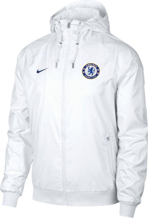 b4f25f96407c Nike Men s Chelsea FC White Full-Zip Windrunner Jacket. noImageFound.  Previous