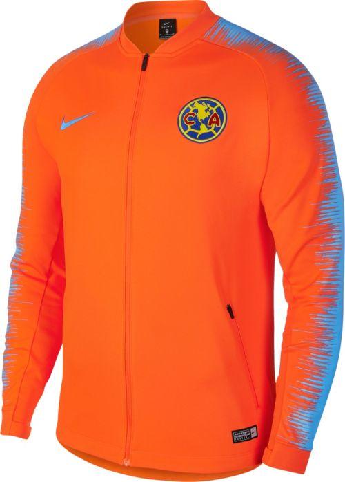 694cfd65f Nike Men s Club America Anthem Orange Full-Zip Jacket
