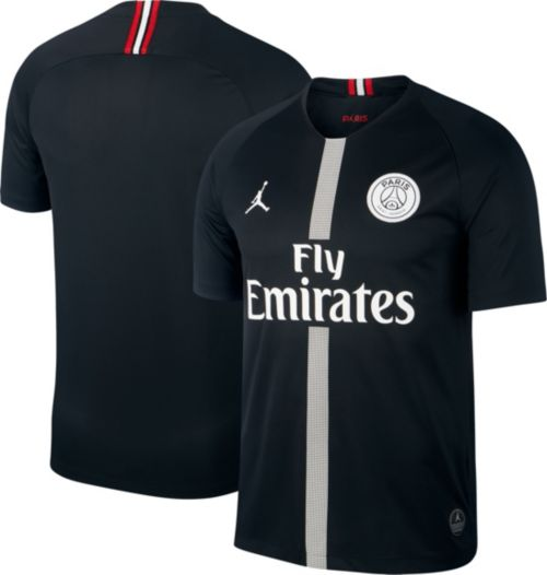 Jordan Men s Paris Saint-Germain 18 19 Breathe Stadium Black Third Replica  Jeresy bd53b9b04