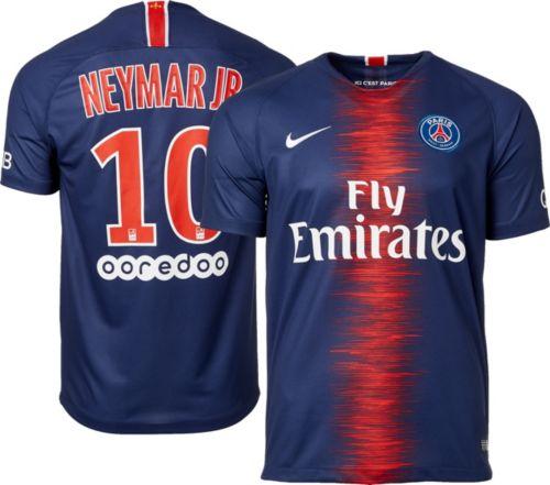 27e59d475 Nike Men s Paris Saint-Germain Neymar  10 2018 Breathe Stadium Home Replica  Jersey