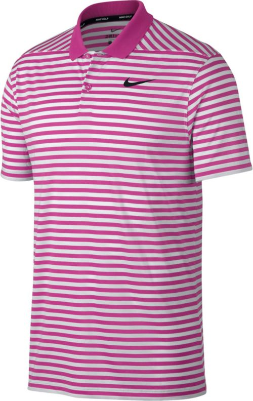 58f60e98 Nike Men's Striped Dry Victory Golf Polo. noImageFound. Previous