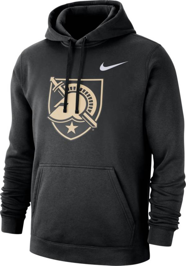 Nike Men's Army West Point Black Knights Club Fleece Pullover Army Black Hoodie product image