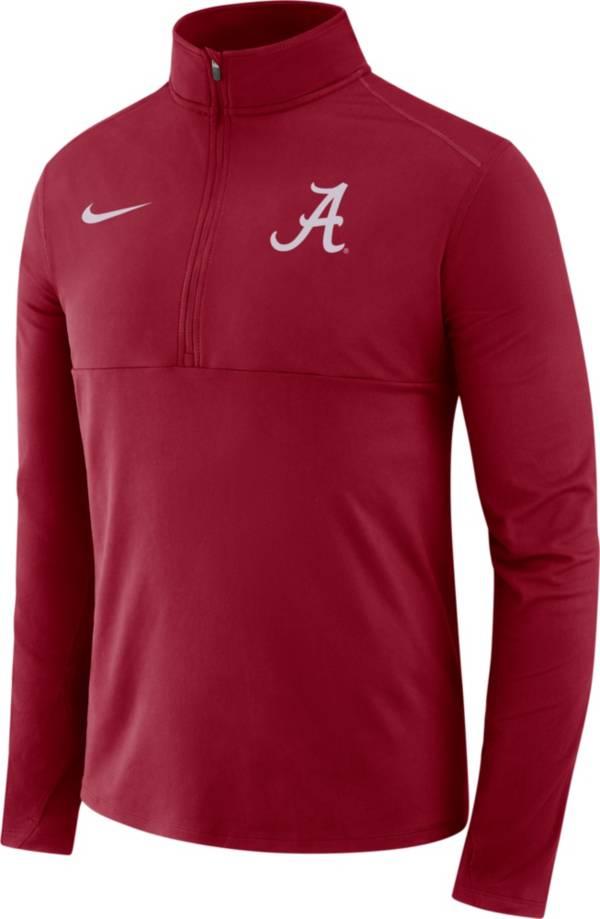 Nike Men's Alabama Crimson Tide Crimson Long Sleeve Core Half-Zip Pullover Shirt product image