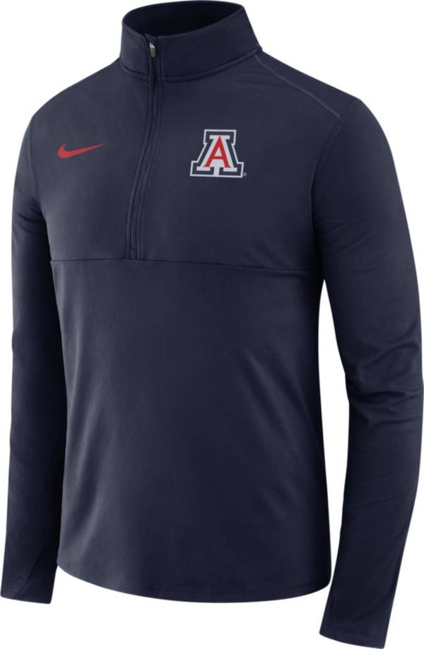 Nike Men's Arizona Wildcats Navy Long Sleeve Core Half-Zip Pullover Shirt product image