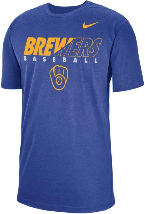 4cfefff11 Nike Men's Milwaukee Brewers Dri-FIT Breathe T-Shirt. noImageFound. Previous