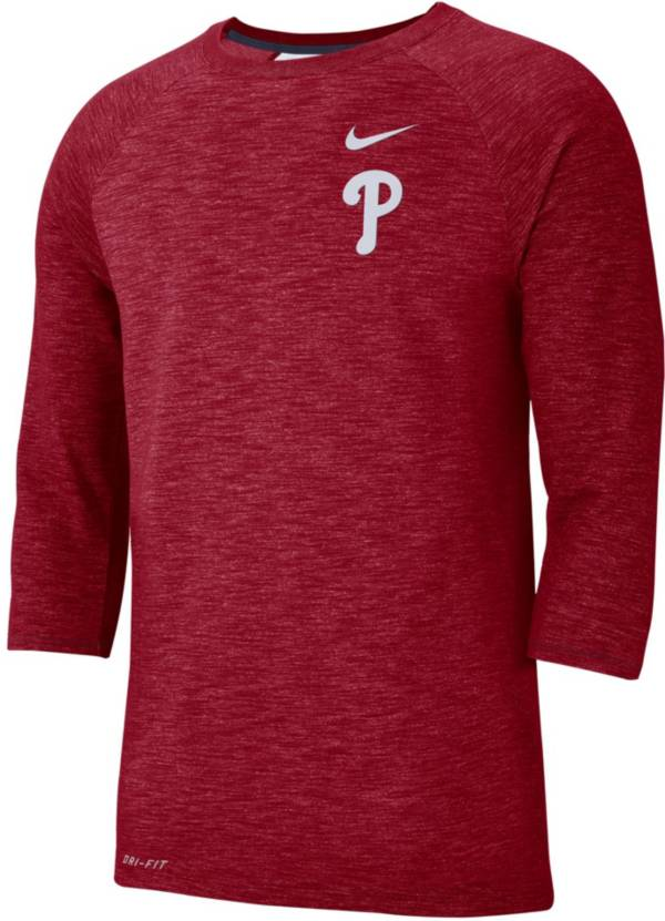 Nike Men's Philadelphia Phillies Dri-FIT Slub Three-Quarter Sleeve Shirt product image