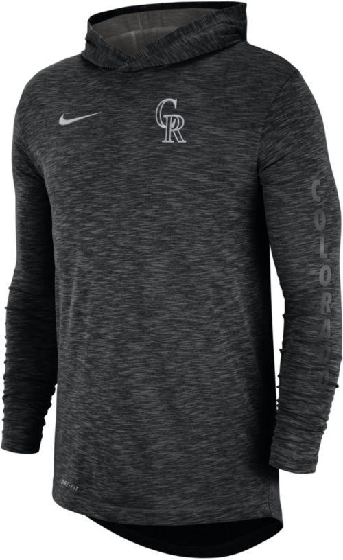 4687693384c6 Nike Men s Colorado Rockies Slub Pullover Hoodie