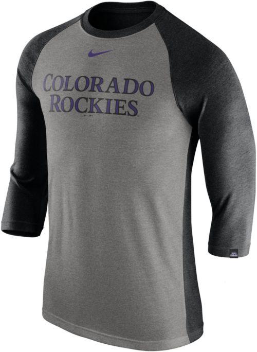 aeb7e335 Nike Men's Colorado Rockies Dri-FIT Raglan Three-Quarter Sleeve Shirt.  noImageFound. Previous. 1