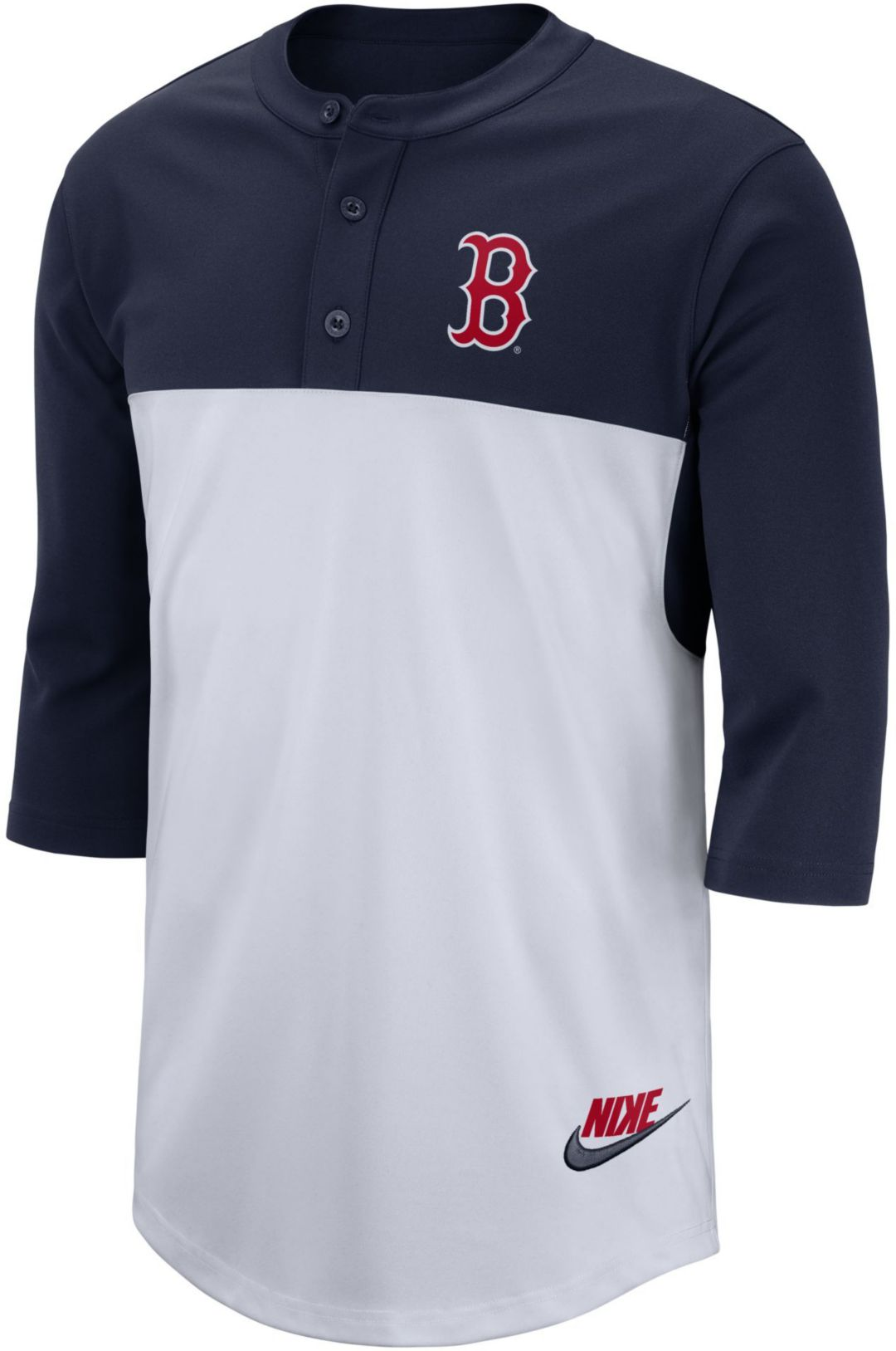 pretty nice 63df3 82e44 Nike Men's Boston Red Sox Dri-FIT Henley Three-Quarter Sleeve Shirt