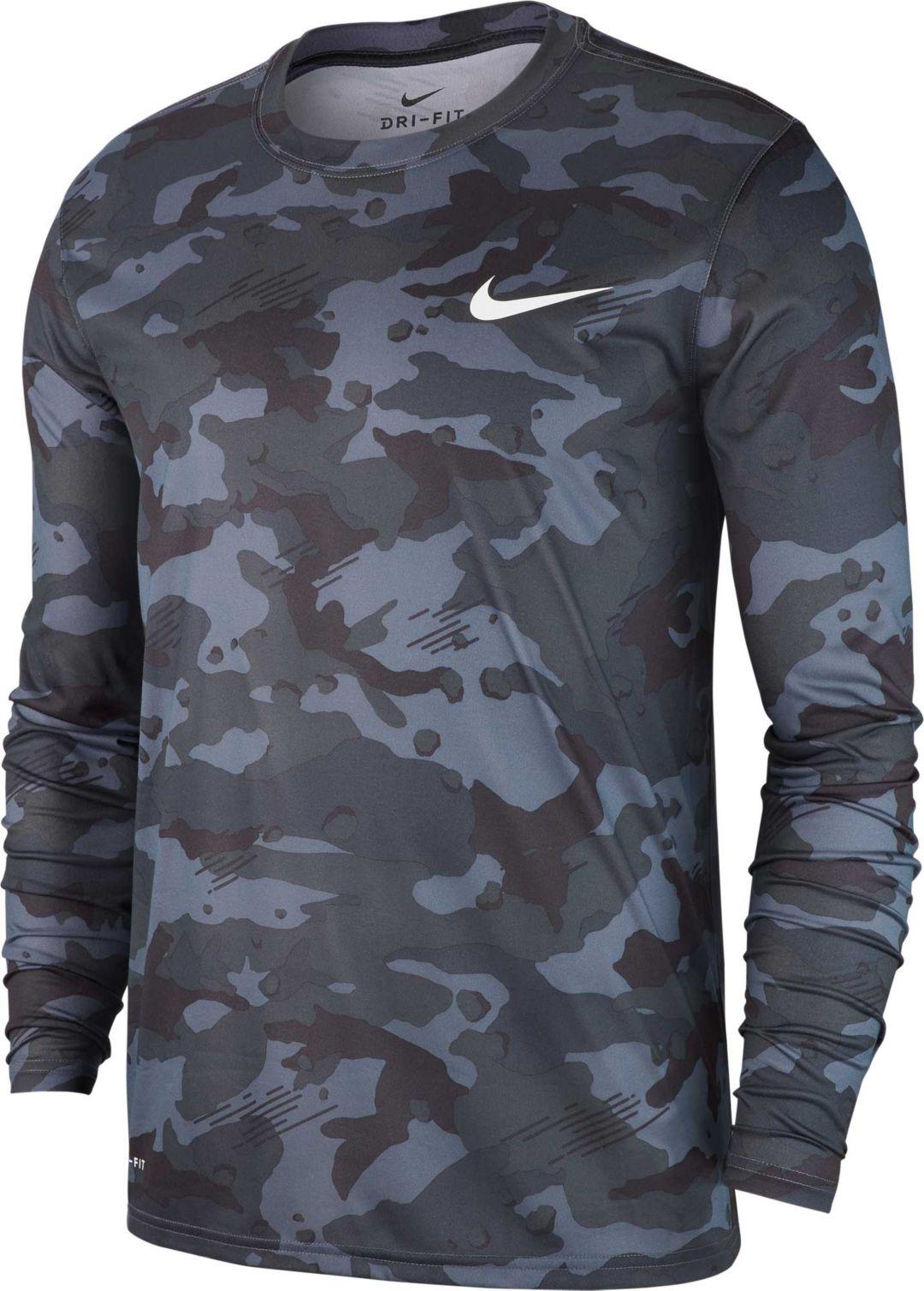 bf2bb781d27bf7 Nike Men's Dry Legend Camo Long Sleeve Tee. noImageFound. Previous