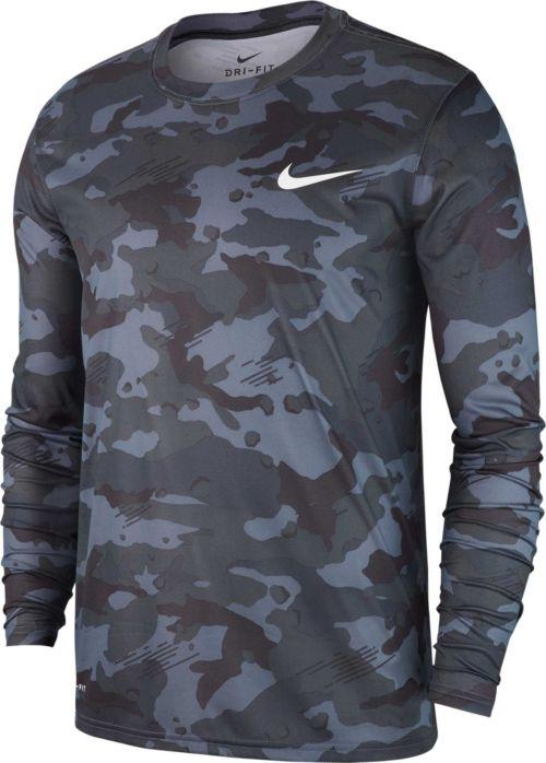 543d173b98f9 Nike Men s Dry Legend Camo Long Sleeve Tee