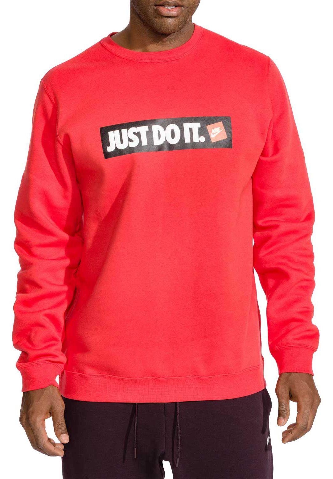 afb9a90d9 Nike Men's Sportswear Just Do It Fleece Pullover. noImageFound. Previous