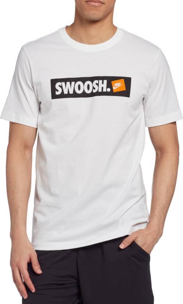 Nike Men's Sportswear Swoosh Bumper Sticker Graphic Tee product image