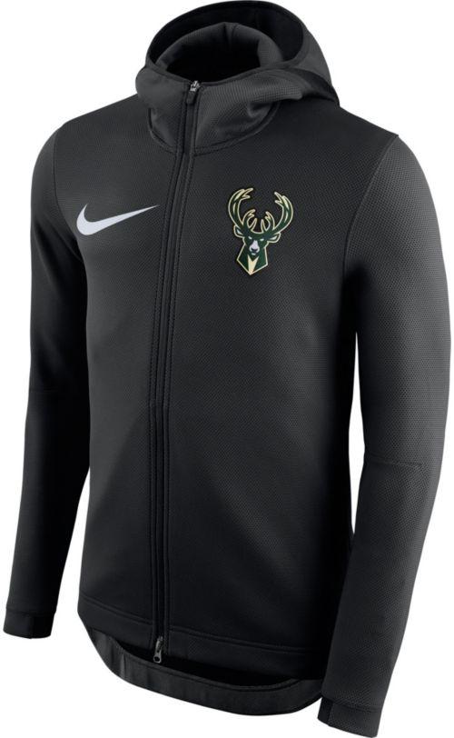 29cf816e13e Nike Men s Milwaukee Bucks On-Court Therma Flex Showtime Full-Zip Hoodie.  noImageFound. Previous