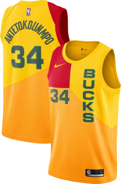 ecd6b712408 Nike Men s Milwaukee Bucks Giannis Antetokounmpo Dri-FIT City Edition  Swingman Jersey. noImageFound. Previous
