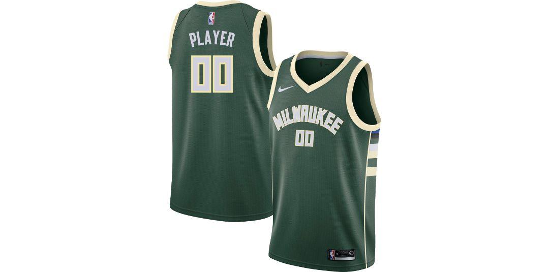 sports shoes 46254 9cc54 Nike Men's Full Roster Milwaukee Bucks Green Dri-FIT Swingman Jersey