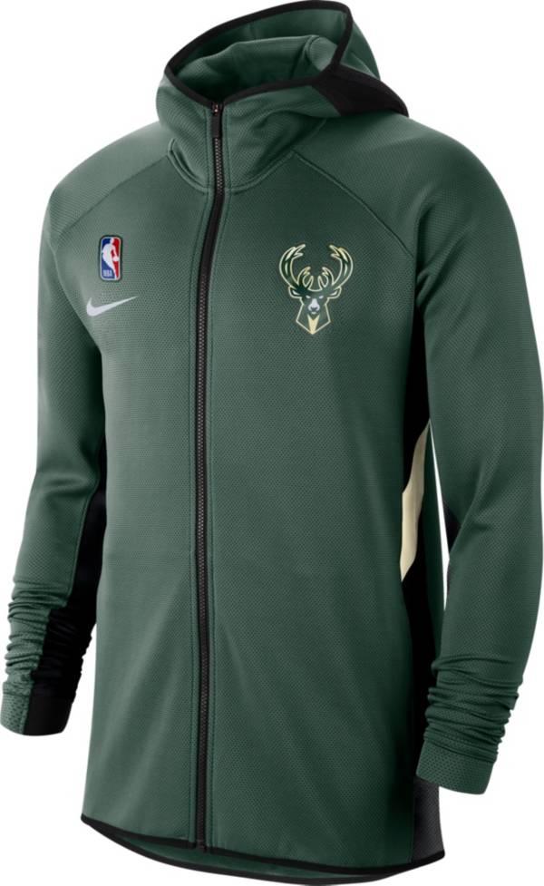 Nike Men's Milwaukee Bucks On-Court Therma Flex Showtime Full-Zip Hoodie product image