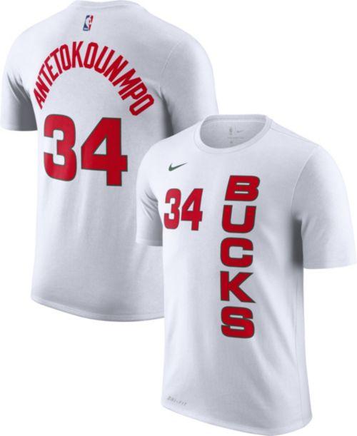eba75678a3c Nike Men s Milwaukee Bucks Giannis Antetokounmpo Dri-FIT Earned Edition  T-Shirt. noImageFound. Previous