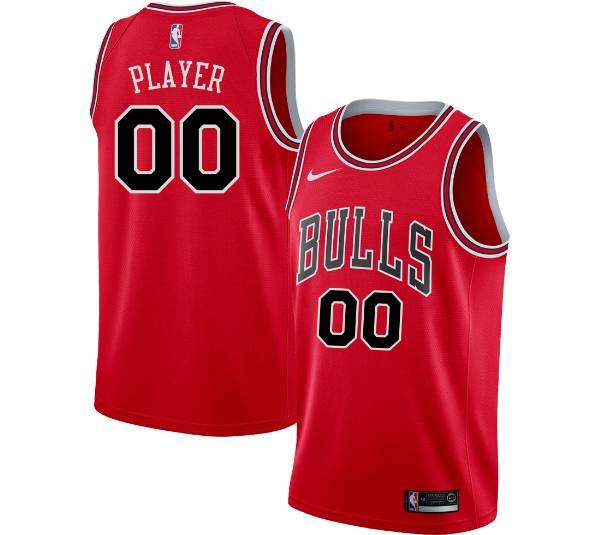 Nike Men's Full Roster Chicago Bulls Red Dri-FIT Swingman Jersey product image