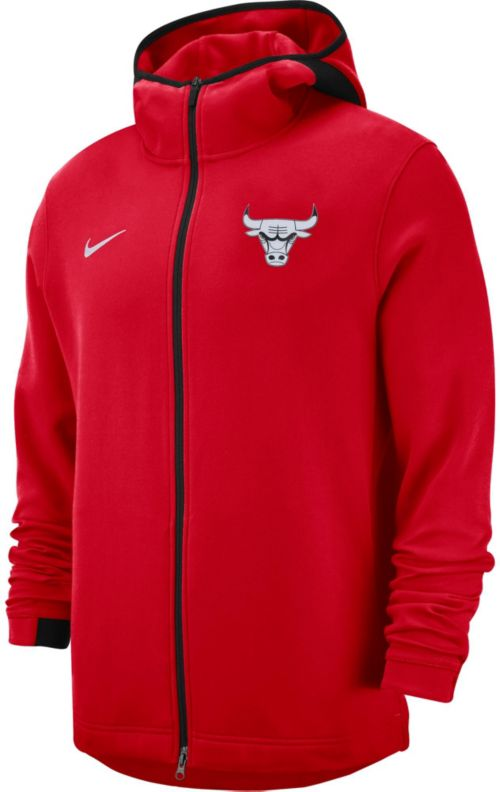 c167273a9 Nike Men s Chicago Bulls On-Court Dri-FIT Showtime Full-Zip Hoodie ...