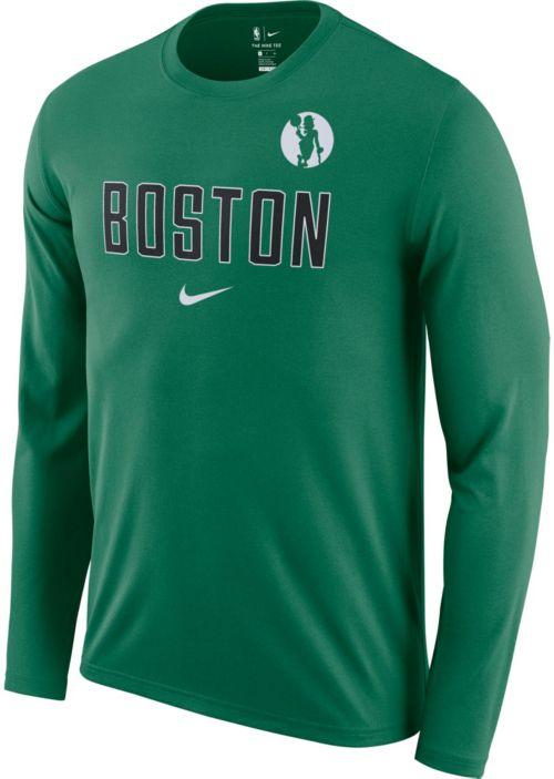 e50e6b7a28468 Nike Men's Boston Celtics Dri-FIT Facility Long Sleeve Shirt | DICK'S  Sporting Goods