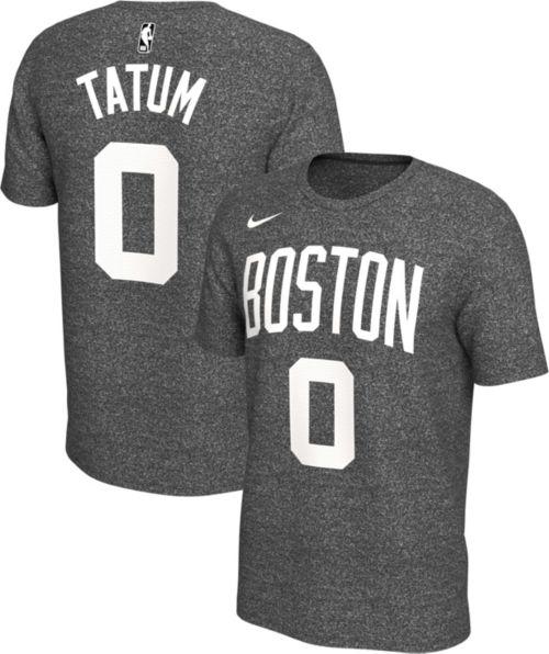31ce7b10127 Nike Men s Boston Celtics Jayson Tatum  0 Dri-FIT Grey T-Shirt ...
