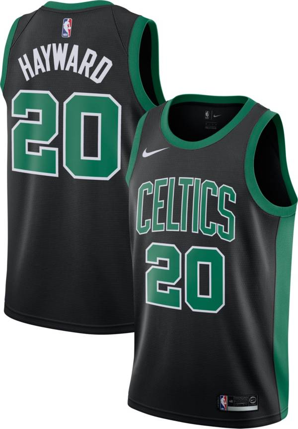Nike Men's Boston Celtics Gordon Hayward #20 Black Dri-FIT Statement Swingman Jersey product image