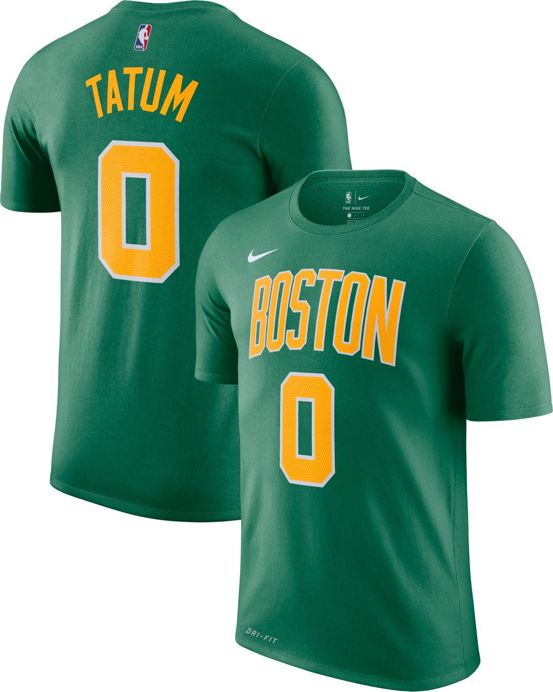 best sneakers f50f5 2a09d Nike Men's Boston Celtics Jayson Tatum Dri-FIT Earned Edition T-Shirt