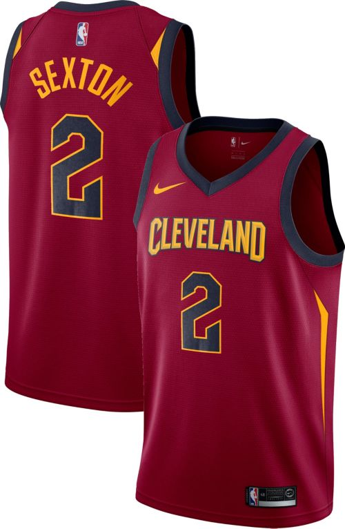 fe20dec6e Nike Men s Cleveland Cavaliers Collin Sexton  2 Burgundy Dri-FIT ...