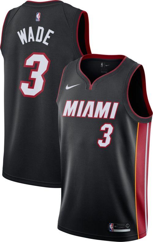 Nike Men s Miami Heat Dwyane Wade  3 Black Dri-FIT Swingman Jersey.  noImageFound. Previous 7a844887a