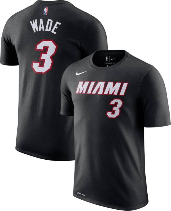 Nike Men's Miami Heat Dwyane Wade #3 Dri-FIT Black T-Shirt product image