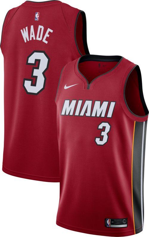 0566523b5c1d Nike Men s Miami Heat Dwyane Wade  3 Red Dri-FIT Swingman Jersey.  noImageFound. Previous