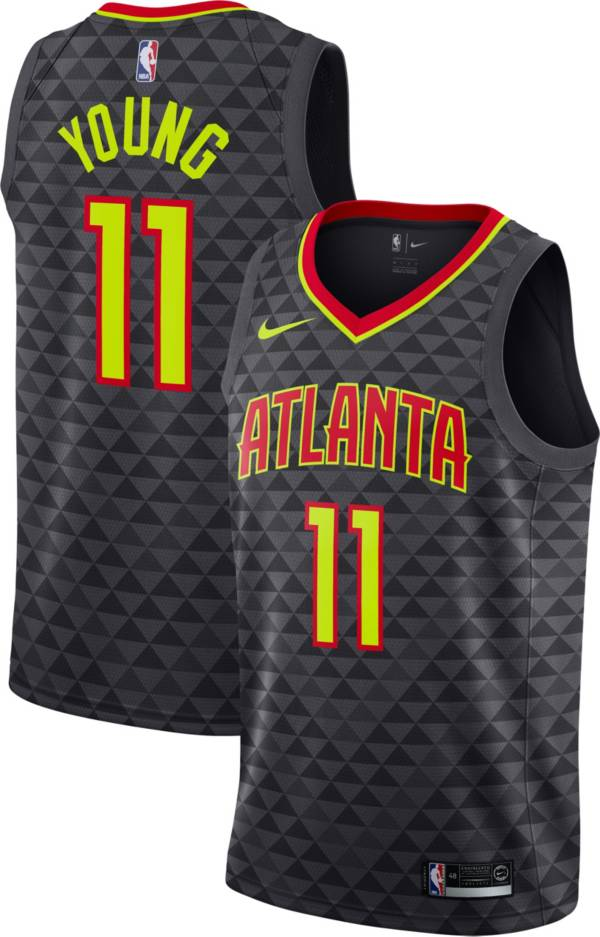 Nike Men's Atlanta Hawks Trae Young #11 Black Dri-FIT Swingman Jersey