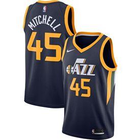 Nike Men s Utah Jazz Donovan Mitchell  45 Navy Dri-FIT Swingman Jersey d7867ada5