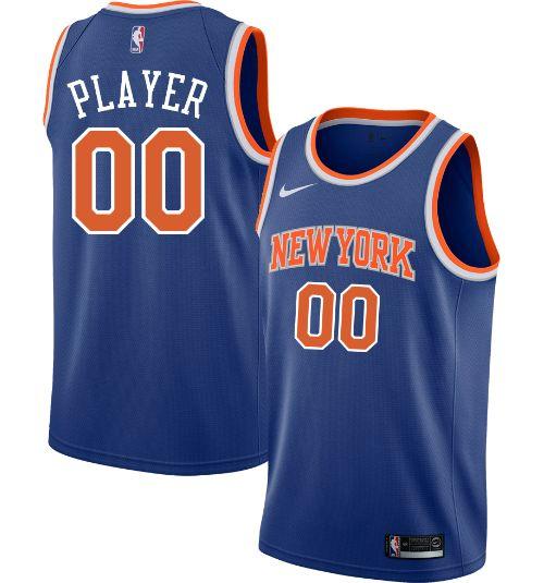 dc4638146cd Nike Men's Full Roster New York Knicks Royal Dri-FIT Swingman Jersey. No  rating value. $110.00. noImageFound. 1