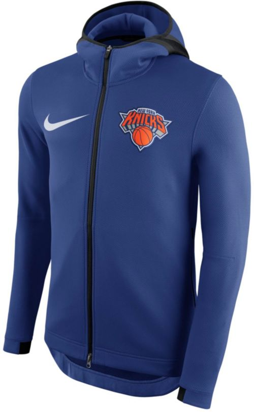 Nike Men s New York Knicks On-Court Therma Flex Showtime Full-Zip Hoodie.  noImageFound. Previous 494d84ec3a65