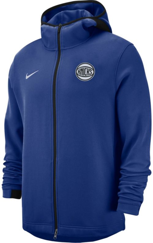 03e189c1fad0 Nike Men s New York Knicks On-Court Dri-FIT Showtime Full-Zip Hoodie.  noImageFound. Previous