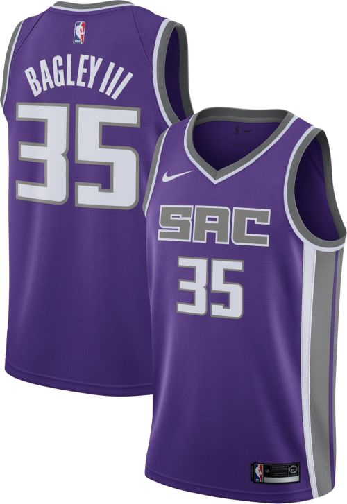 Nike Men s Sacramento Kings Marvin Bagley III  35 Purple Dri-FIT ... 7cb919346