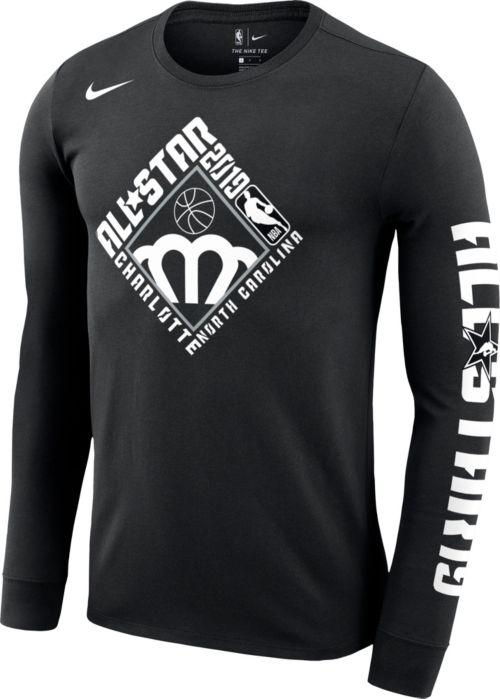 66b9a5cf1 Nike Men's 2019 NBA All-Star Game Dri-FIT Black Long Sleeve Shirt ...