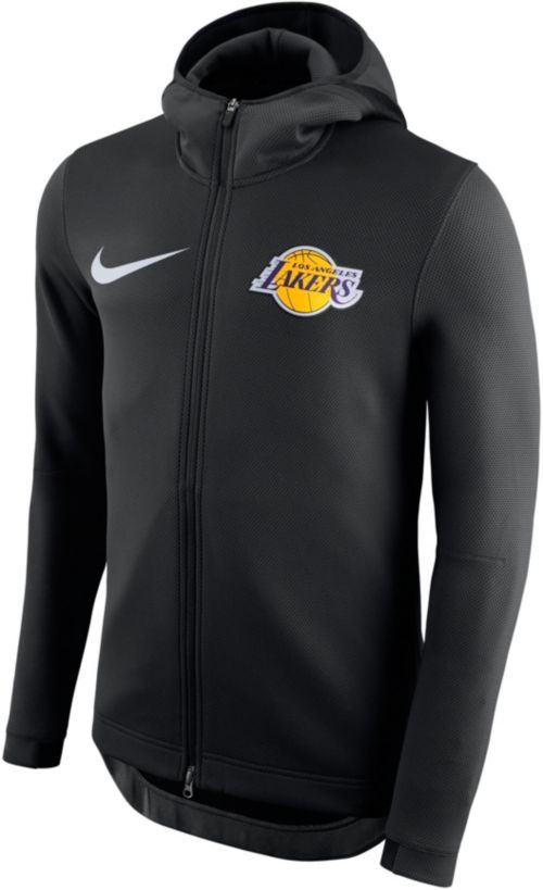 eac89107575b Nike Men s Los Angeles Lakers On-Court Therma Flex Showtime Full-Zip ...