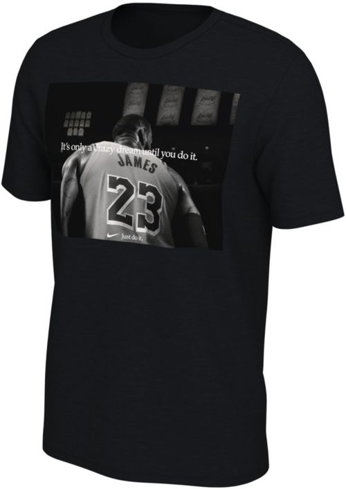 "c2b37fa6 Nike Men's Los Angeles Lakers LeBron James Dri-FIT ""Just Do It"" T-Shirt.  noImageFound. Previous"