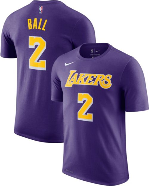 1c52fc1e845 Nike Men s Los Angeles Lakers Lonzo Ball  2 Dri-FIT Purple T-Shirt.  noImageFound. Previous