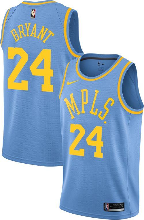 37cab01eaa0 Nike Men's Los Angeles Lakers Kobe Bryant  24 Light Blue Dri-FIT ...