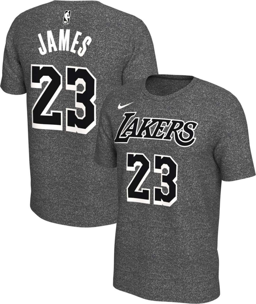 elegant and sturdy package unequal in performance elegant and sturdy package Nike Men's Los Angeles Lakers LeBron James #23 Dri-FIT Grey T-Shirt